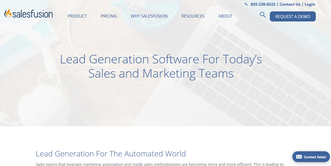 Salesfusion Lead Generation Software