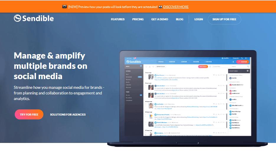 Sendible Social Media Management Tools