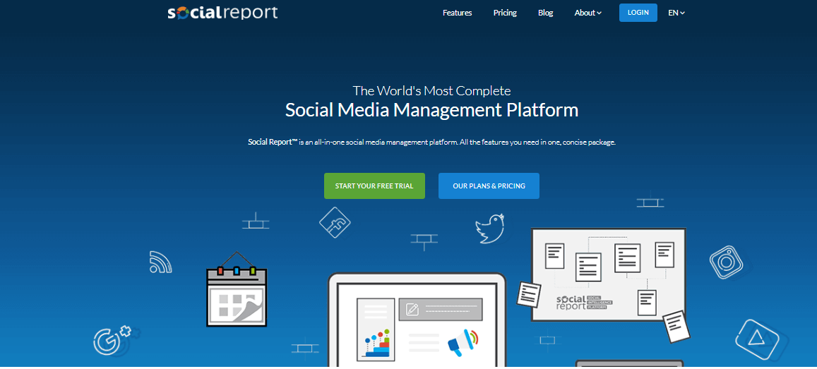 Social Report Social Media Management Tools