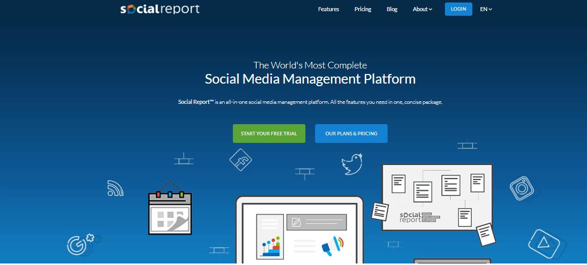 Social Report Social Media Management Tools