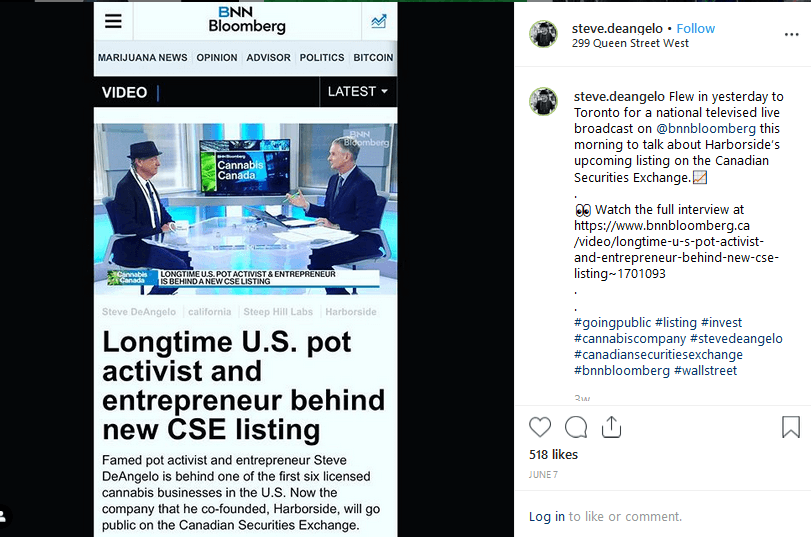 Steve DeAngelo Cannabis influencers