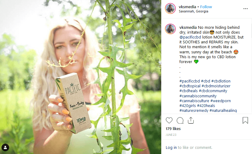 Vaping Kamea Instagram CBD Influencer