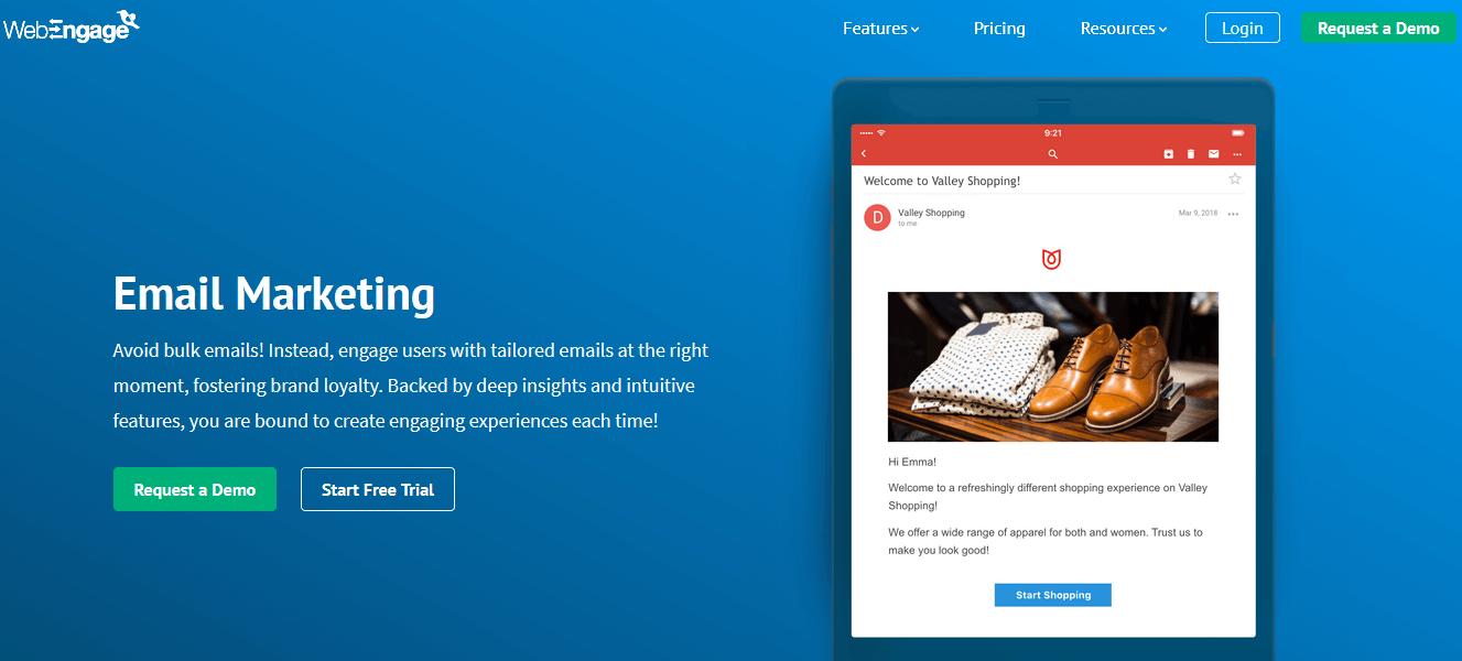 WebEngage Email Marketing Automation
