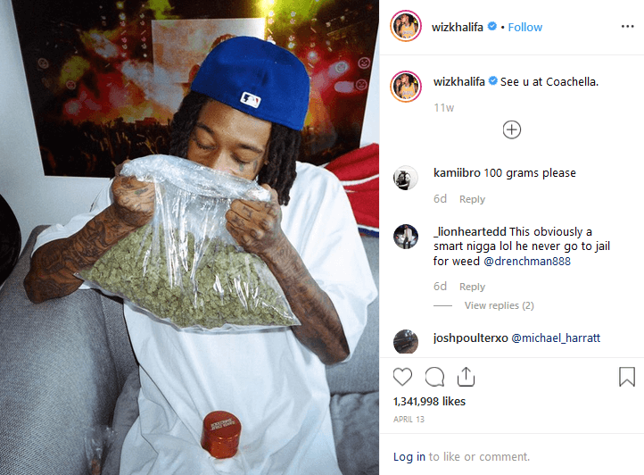 Wiz Khalifa Instagram Cannabis influencers