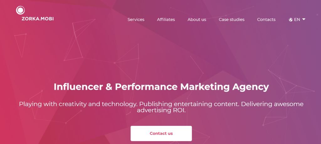 Zorka.Mobi Influencer Marketing Agency