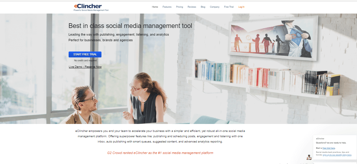eClincher Social Media Management Tools