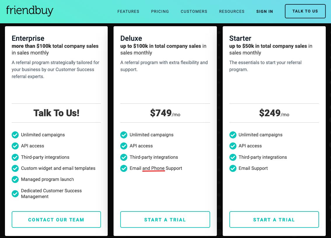 Friendbuy Pricing Referral Marketing Software