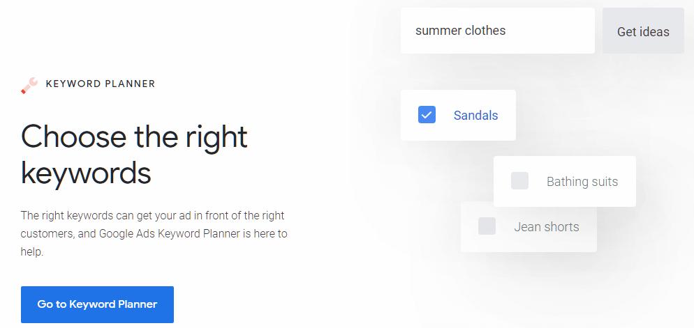 Google's Keyword Planner SEO Tools
