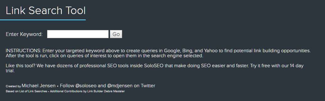 Link Search Tool SEO Tools