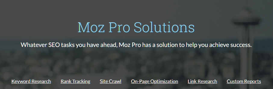 Moz's Site Crawl SEO Tools