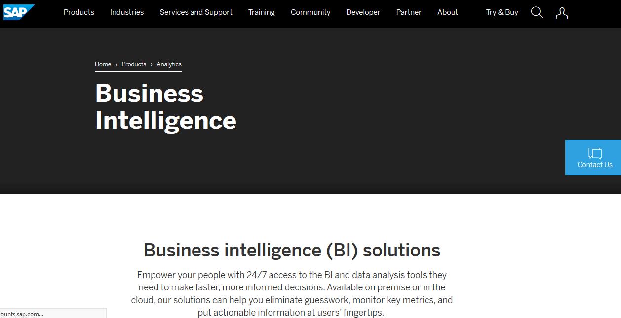 SAP Business Intelligence Best BI Tool