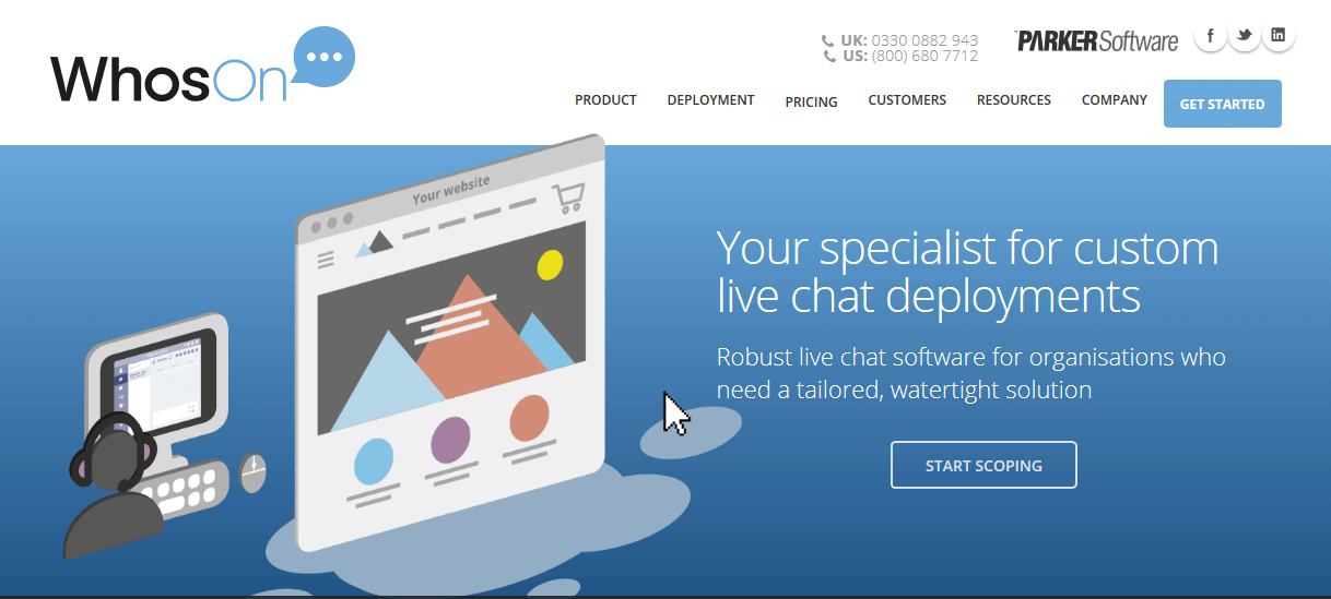 WhosOn Live Chat Software