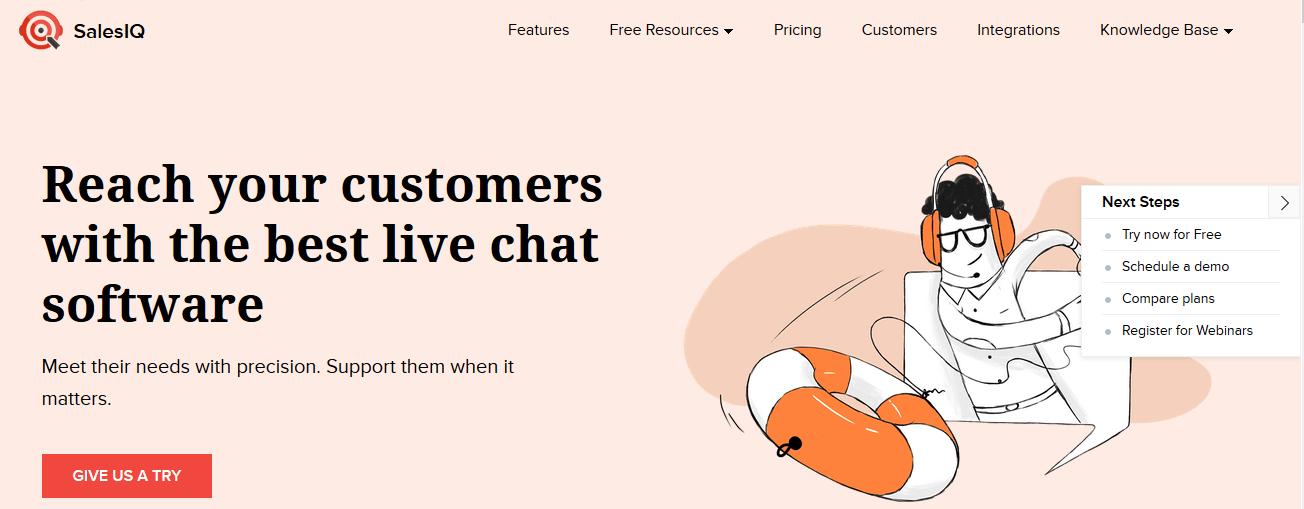 Zoho SalesIQ free live chat software