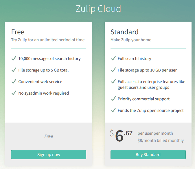 Zulip slack alternative
