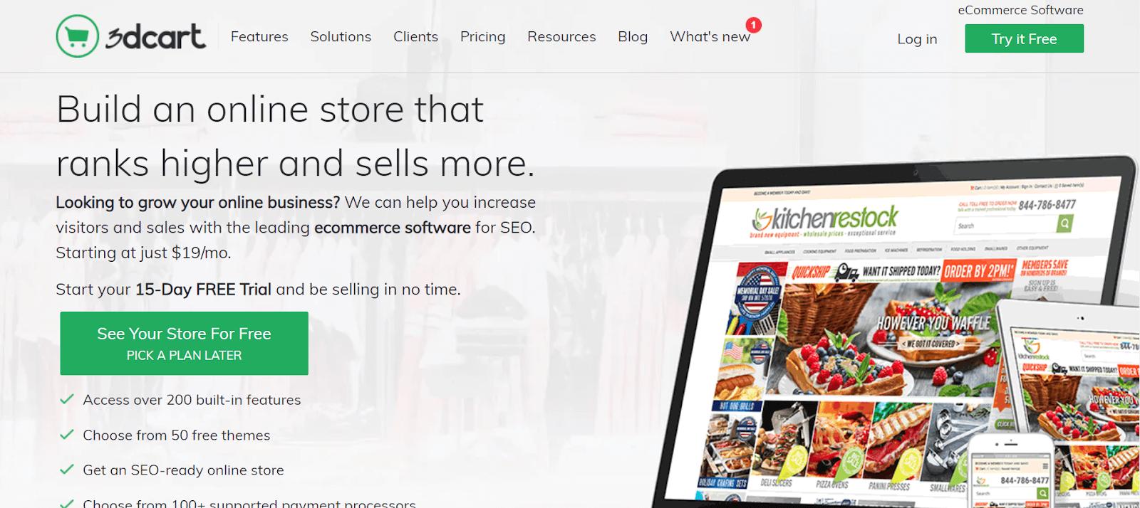 3dcart Best eCommerce tools