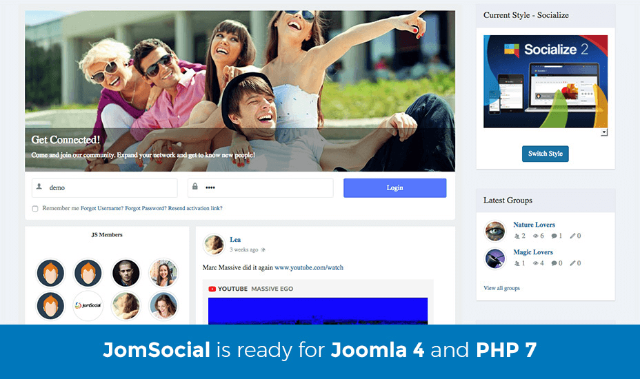 JomSocial lithium alternative
