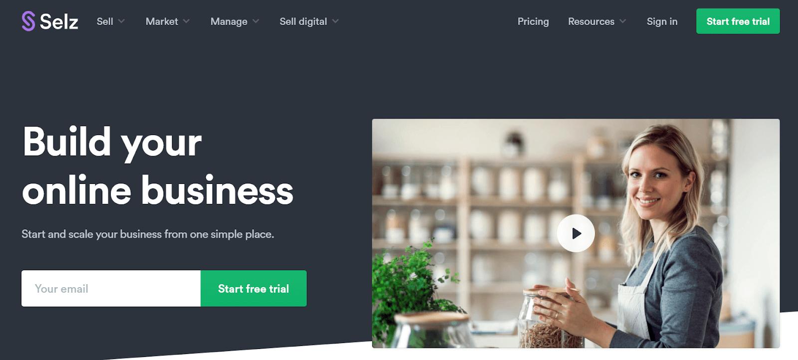 Selz Ecommerce Platforms