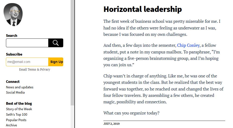 Seths Blog Personal Branding & Content Creation