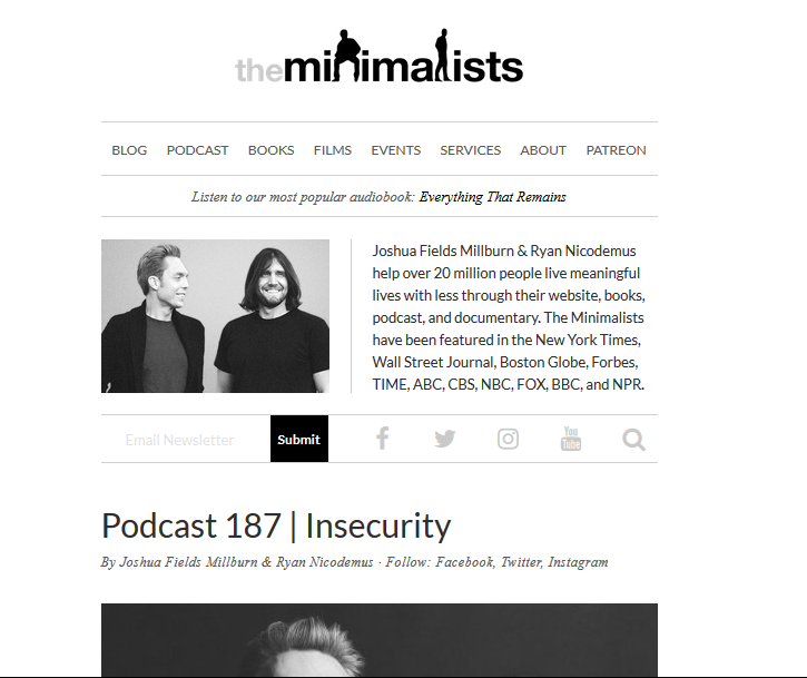 The Minimalists Personal Branding & Content Creation