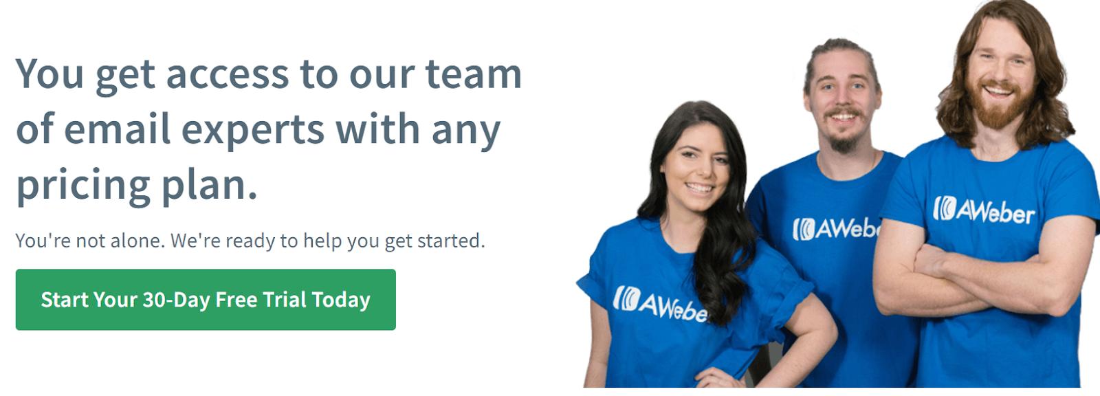 AWeber Mailchimp alternative