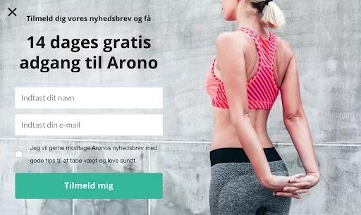 Arono's ab testing customer journey