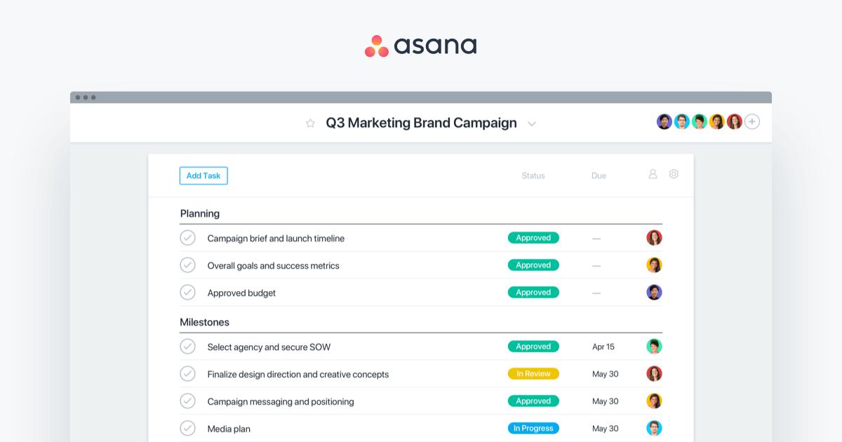 Asana Content Marketing Execution