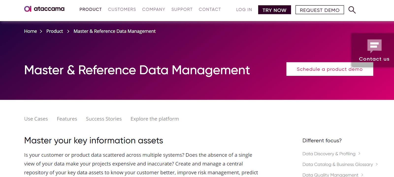 Ataccama Data Management Tool