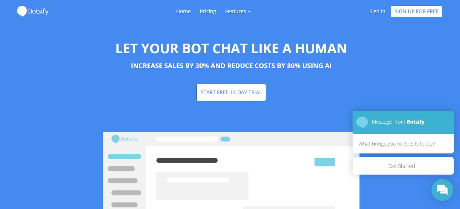 Botsify Chatbot for Websites