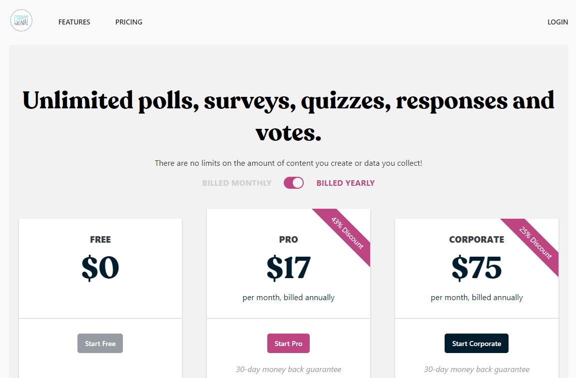 Crowdsignal surveymonkey alternative