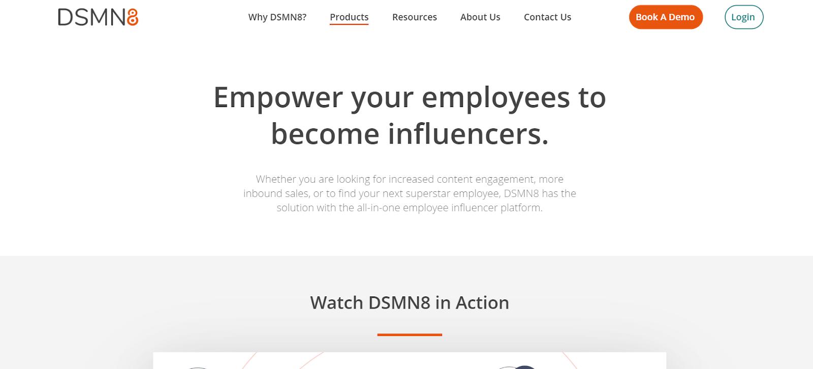 DSMN8 Employee Advocacy Tools