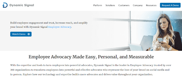 Dynamic Signal Employee Advocacy Tools