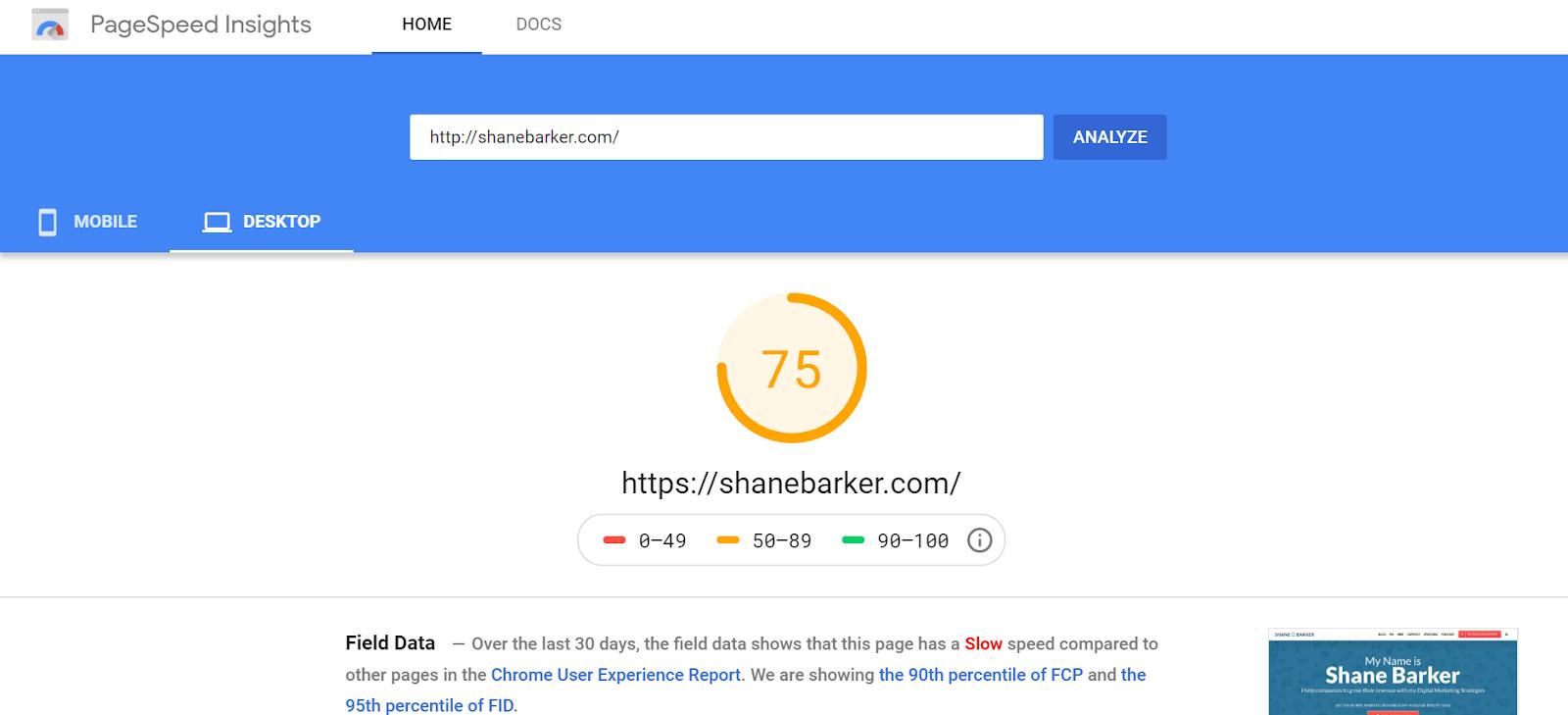 Google PageSpeed Insights