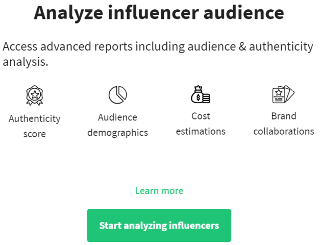 Heepsy Instagram Analytics Tool