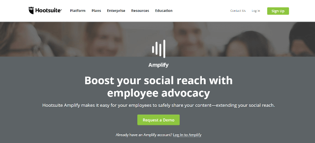 Hootsuite Amplify Employee Advocacy Tools