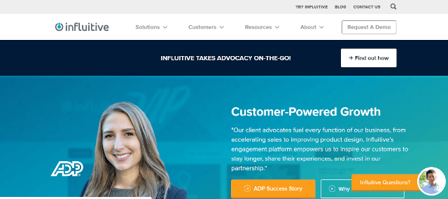 Influitive Employee Advocacy Tools