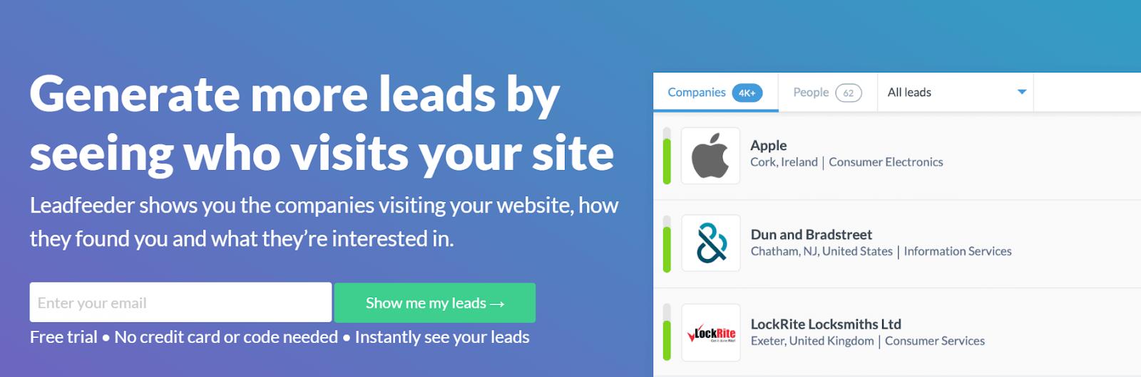 Leadfeeder ZoomInfo Alternatives