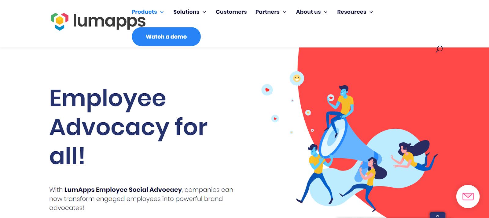 LumApps Employee Advocacy Tools