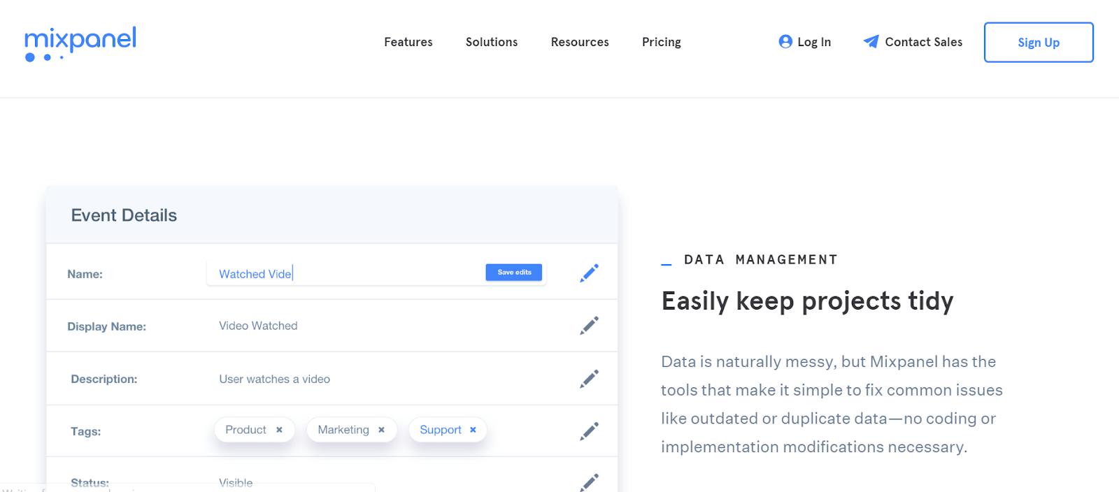 Mixpanel Data Management Tool