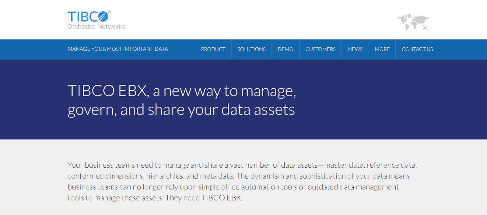 Orchestra Networks Data Management Tool