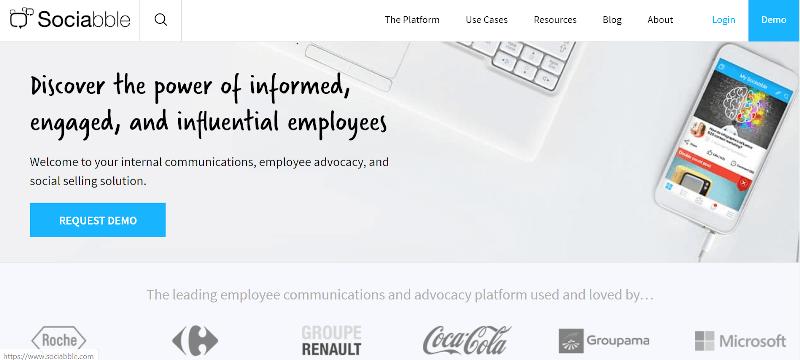 Sociabble Employee Advocacy Tools