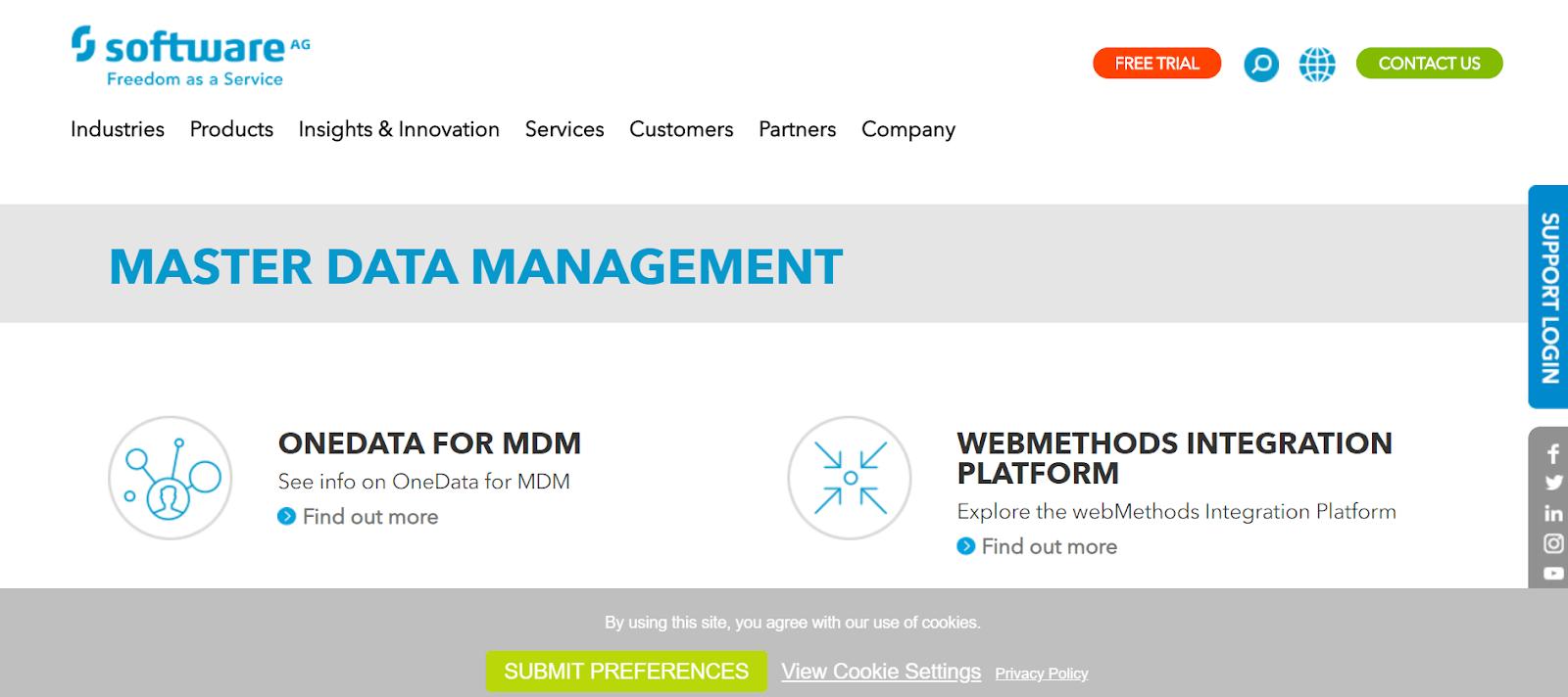 Software AG Data Management Tool