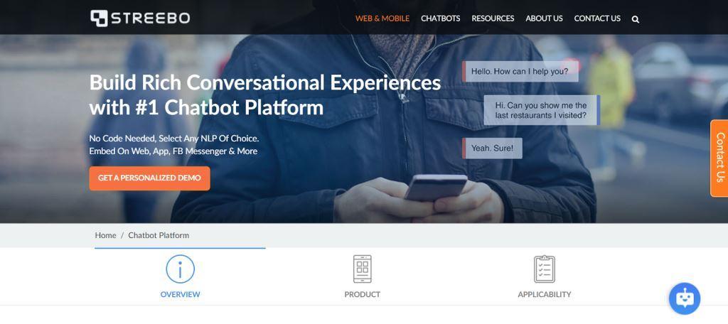 Streebo Chatbot for Websites