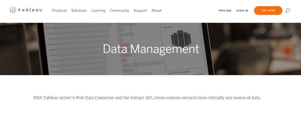 Tableau Data Management Tool