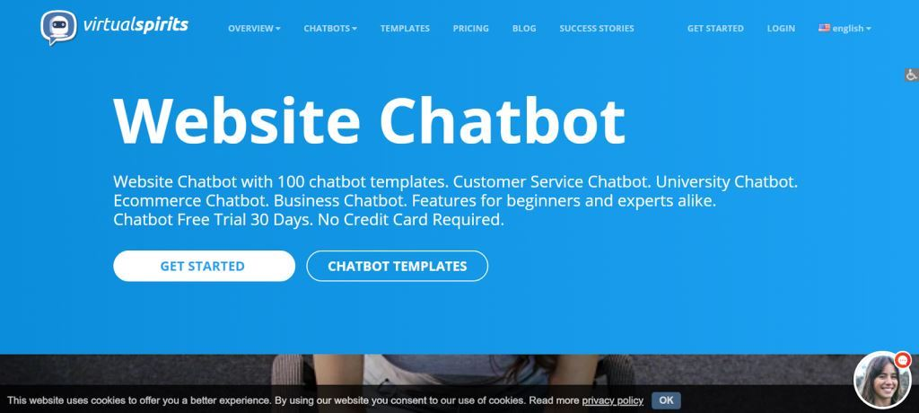 Virtual Spirits Chatbot for Websites