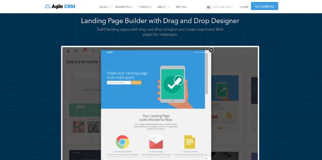 Agile CRM Best Landing Page Builders