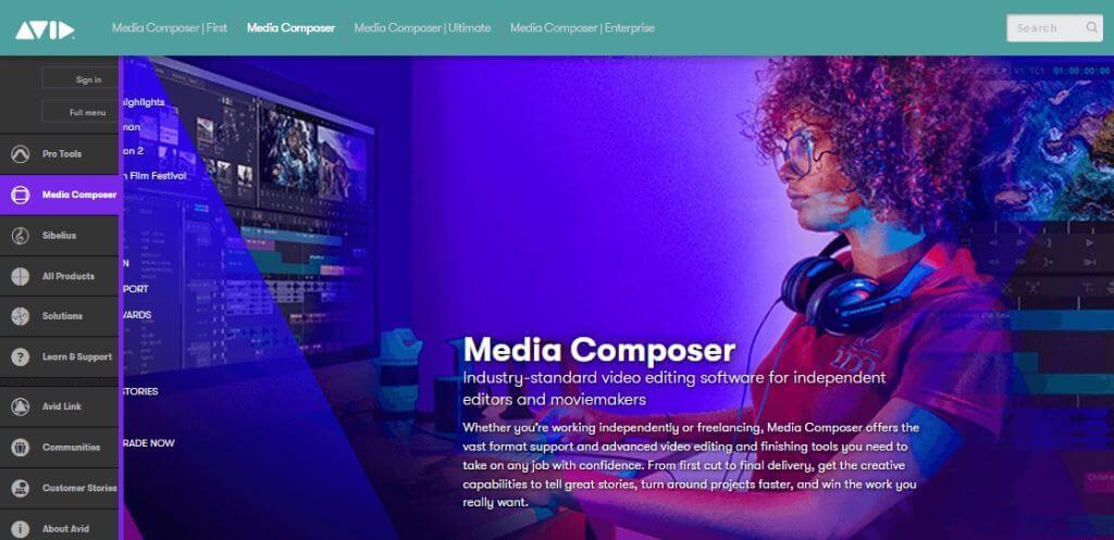 Avid Best Free Video Editing Software online