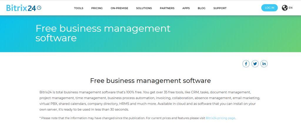 Bitrix24 Business Management Software