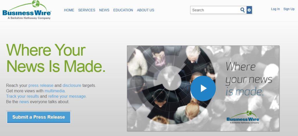 Business Wire Online PR Tool