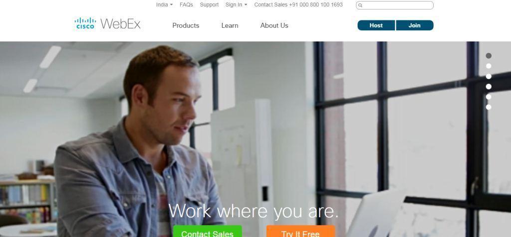 Cisco Webex Web Conferencing Tool