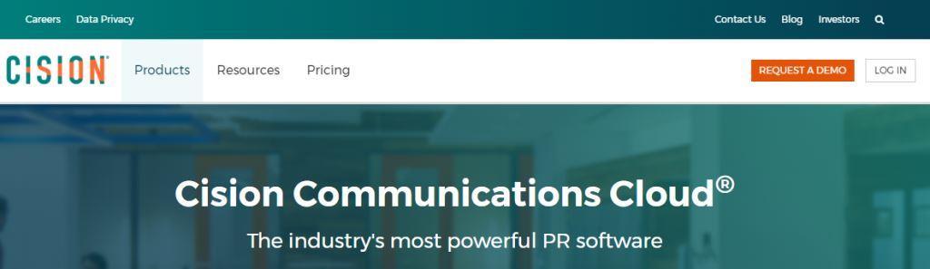 Cision Online PR Tool